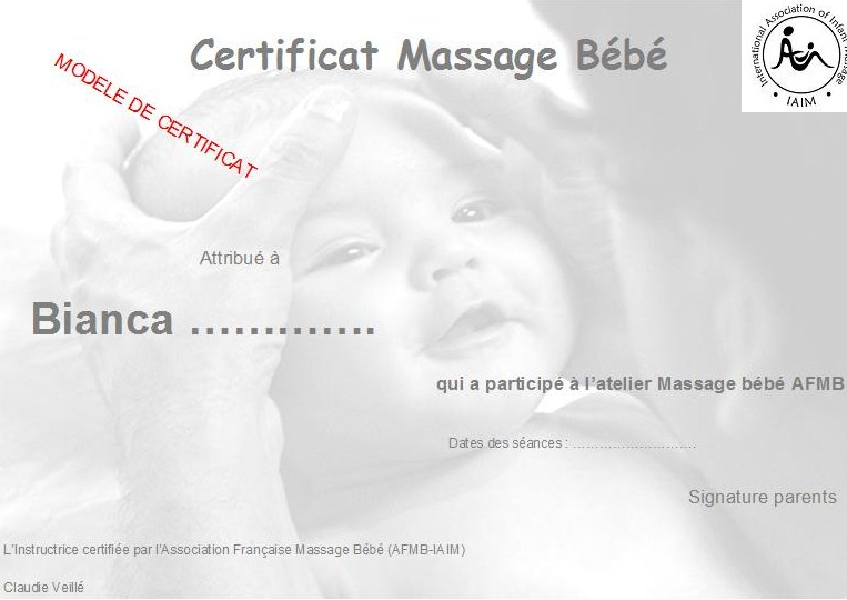 ATELIER MASSAGES BEBE