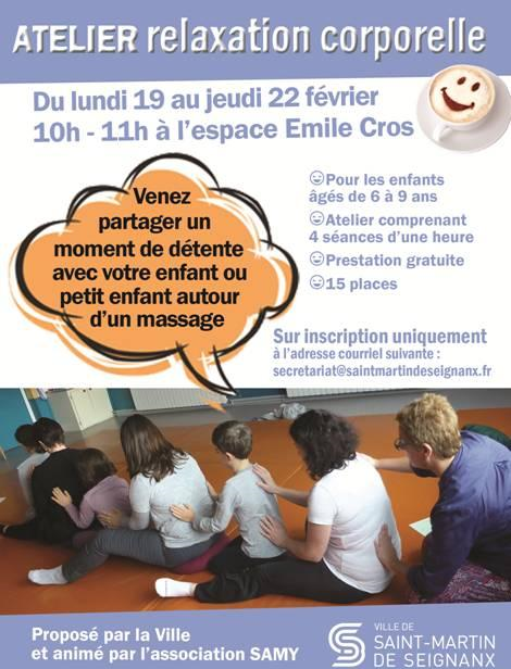 Affiche atelier relaxation corporelle